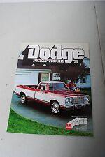 Dodge Pickup Trucks '78 Sales Literature Book