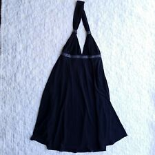 NWT Express Black Halter Dress Size S Beaded Detail Flowy Empire Waist Cocktail