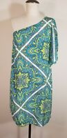 Alice & Trixie Small Silk Paisley One Shoulder Tunic Top Blouse
