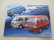 1986 Ford Spectron van Australian advertising brochure