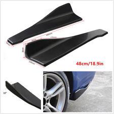 Glossy Black Bumper Spoiler Rear Lip Side Skirt Extension Splitter Winglet Wings