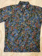 e4dad600 Blue Floral Reyn Spooner Small Hawaiian Button Up shirt 60/40 Blend