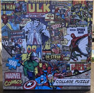 Marvel Comics Photo Collage 1000 Piece Jigsaw Puzzle New & Sealed  #56885 - RARE