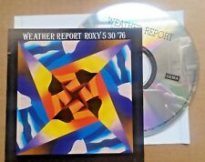 weather report -  rare japan original silver live  cd ROXY NYC 5301976