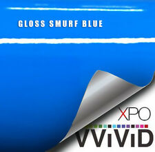 VViViD Gloss Smurf Blue (Riviera Porsche GT3 Blue) vinyl wrap film choose length