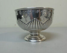 BEAUTIFUL 19th C. ANTIQUE ENGLISH WALKER & HALL STERLING SILVER PEDESTAL BOWL