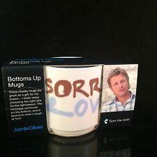 JAMIE OLIVER SORRY LOVE BOTTOMS UP FUNNY COFFEE MUG - ROYAL WORCESTER 2007 NEW