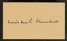 Winston Churchill Autograph Reprint On Genuine Original Period 1943 3X5 Card