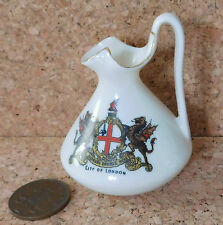 Arcadian crested china CITY OF London miniature vase Gregory Salopian Ewer
