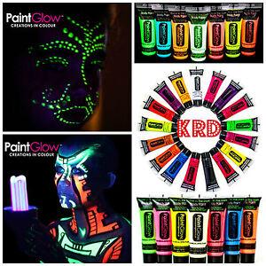 Genuine UV Face & Body Gel Paint In Rave Party Paints UV Light UK