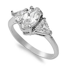 Clear CZ Ring Wholesale Polished Stainless Steel Band New USA 10mm Sizes 5-10