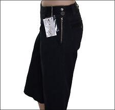 NEW WOMAN'S OAKLEY BLACK STRETCH 3/4 CAPRI PANTS JEANS W30 UK12
