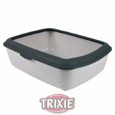 Trixie Cat Litter Tray Toilet With Rim light & dark grey 40312