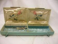 Vintage Farrington Jewelry Trinket Sewing Box Plastic 2 Hinged Lids
