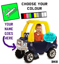 PERSONALISED Number Plate stickers TO FIT Little Tikes Cozy TRUCK ride on toy