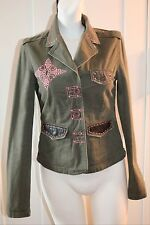 Jaded by Knight Army Green Military Vintage SOLD OUT Phoenix crystal XS S Small