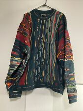 Vtg COOGI Knitted Sweater Multicolor Rare Size XL (See Description) Free Ship 🚢