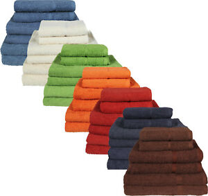 100% Egyptian Cotton 450gsm Face Cloth Hand Towel Bath Towel Sheet Bale Sets