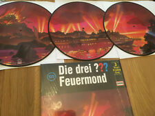3 LP Vinyl Picture Disc Die drei Fragezeichen FEUERMOND 125 super rar