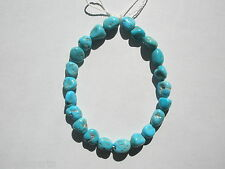 "Natural Sleeping Beauty Turquoise UNSTABILIZED Nugget  Beads- 5-8x9-10mm -8"" str"