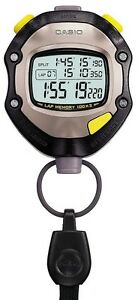 CASIO Stop Watch HS-70W-1JH Gunmetal black Japan With Tracking