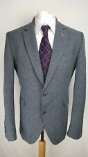 Gibson London Mens Suit Jacket, Size 44L, Grey, Wool Blend, Very Good Cond