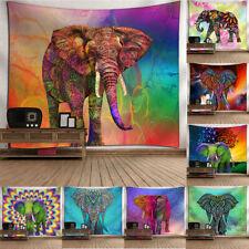 Mandala Indio Elefante Tapiz Colgante De Pared Lanzar Hippie Bohemio Cubierta Dormitorio Decoración