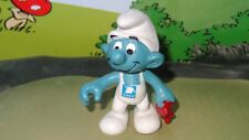 Smurfs Gas Station Attendant Smurf Promo National Rare Vintage Display Figurine