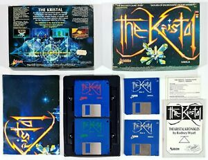 "©1989 Commodore Amiga/Addictive THE KRISTAL 3,5"" Diskversion/16bit Arcade RPG"
