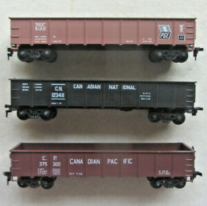 Ho Train Vintage Athearn / 40' Gondola Lot - PGE / CN / CP
