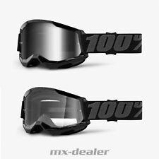 100 % Prozent Brille Strata2 Black Motocross Enduro Downhill MTB DH Cross