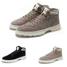 Mens Outdoor Walking Sports Flats Lace up Non-slip High Top Ankle Boots Shoes L