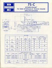 Bucyrus Erie 75-C Hydrocrane 75 ton hydraulic truck crane specifications