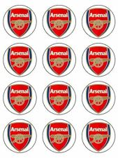 """Arsenal Edible Icing, Cup Cake Toppers 12 x 2"""" Standart"""