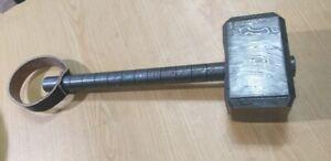 Custom Crafted knife king's Damascus Steel LIGHTNING Hammer of THOR