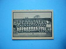 1962 TOPPS CFL FOOTBALL CARD #130 SASKATCHEWAN ROUGHRIDERS TEAM CHECKLIST NM