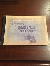 Komatsu Operaton & Maintenance Manual D45A-1 Bulldozer