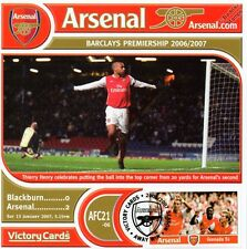 Arsenal 2006-07 Blackburn (Thierry Henry) Football Stamp Victory Card #621