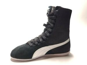 PUMA Women's High Top Sneaker Eskiva, black Size 7