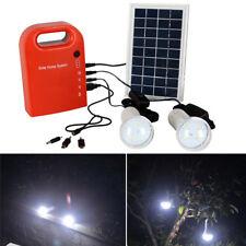 2 LED Panel Portable Solar USB Generador Carga Energía Sistema de iluminación