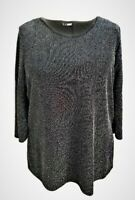 Womens Ladies Plus size Glitter Party Tunic Tops Silver Sizes 16-18/20-22/24 NEW