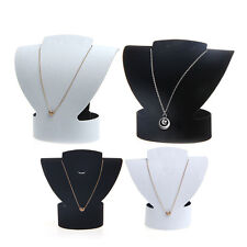 Folding Velvet Jewelry Necklace Bust Earring Display Holder Stand Rack Show Case