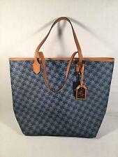 NEW Ralph Lauren Tote Shopper Hanbag Blue Signature British Tan Indigo $178 NWT