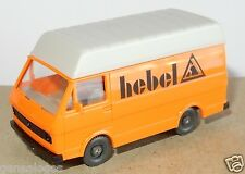 MICRO WIKING HO 1/87 VW LT 28 COMBI VAN FOURGON ENTREPRISE HEBEL