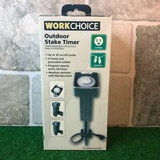 Workchoice 3 Prong Grounded Outdoor Stake Timer Weather Resistant 24 cycles