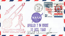 Walt CUNNINGHAM Signed Autograph First Day Cover 5 FDC AFTAL Apollo Astronaut
