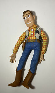 """Vintage Disney Toy Story Pull String Woody Thinkway Toys - 16""""- read description"""