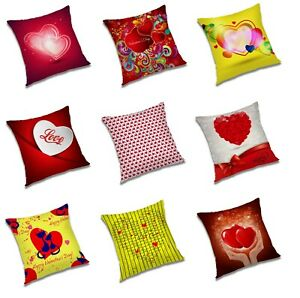Heart Love Printed Cushion Cover Valentine Day's Gifting Square Pillow Cases