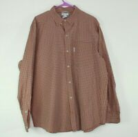 Men's Columbia Red Plaid Button Down Long Sleeve Shirt Size Large
