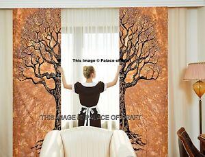 Indian Ethnic Mandala Tree Of Life Bohemian Door Window Curtain Drapes Curtains